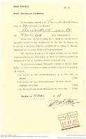 Bensheimemr Häuser - Historisches Dokument über die Straßenreinigungsgebühr 1919
