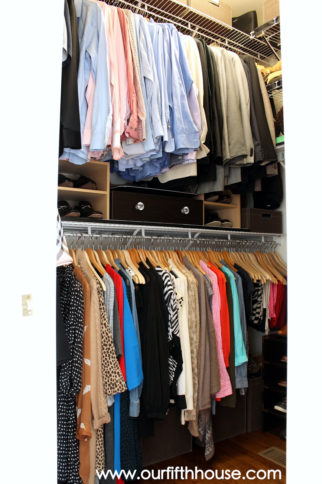 closet storage ideas  sc 1 st  Our Fifth House & Thinking Outside the Closet (Clothing Storage Ideas for Small Closet ...