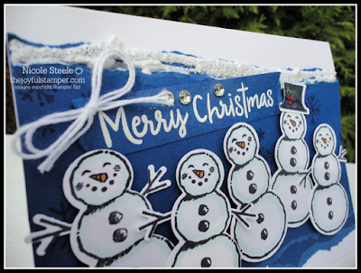 Ideas for Snowfall Accents Puff Paint - glittered snowy border with Snowman Season set
