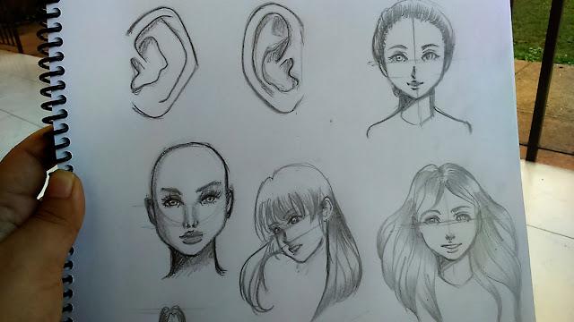 Dibujo de orejas y caras