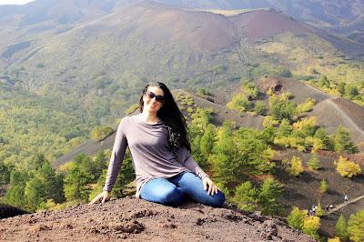 Italian wine blogger on Mt. Etna