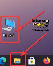 مستعرض الملفات او This PC او My Computer