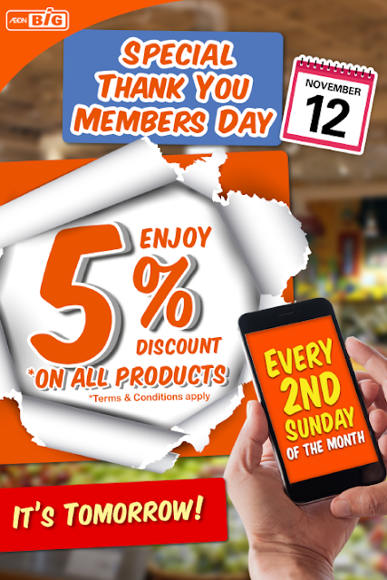 AEON BiG Special Thank You Member Day Discount Offer