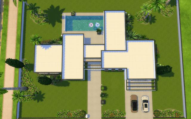 villa star Sims 4