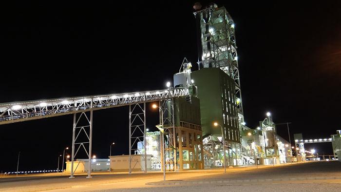 Imagen de una fábrica de cemento portland