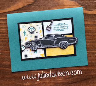 Stampin' Up!  1 Layout, 5 Cards ~ Weekend Card Challenge ~ Card Layout ~ 2019 Occasions Catalog ~ Geared Up Garage, Classic Garage Designer Paper ~ www.juliedavison.com