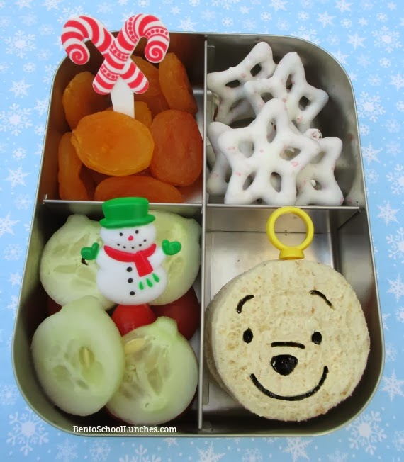 Winnie The Pooh Ornament Christmas bento lunch