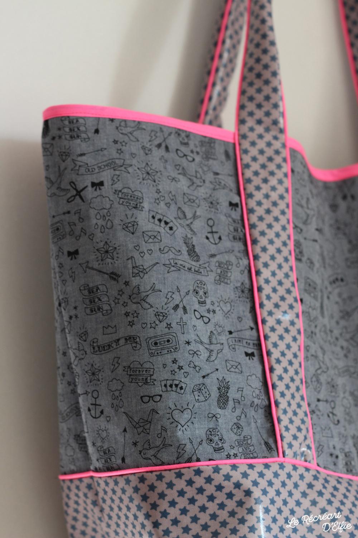 couture sac de plage le r cr art delfie. Black Bedroom Furniture Sets. Home Design Ideas