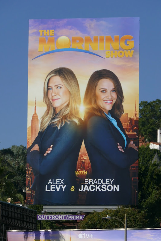 Jennifer Aniston Reese Witherspoon Morning Show billboard