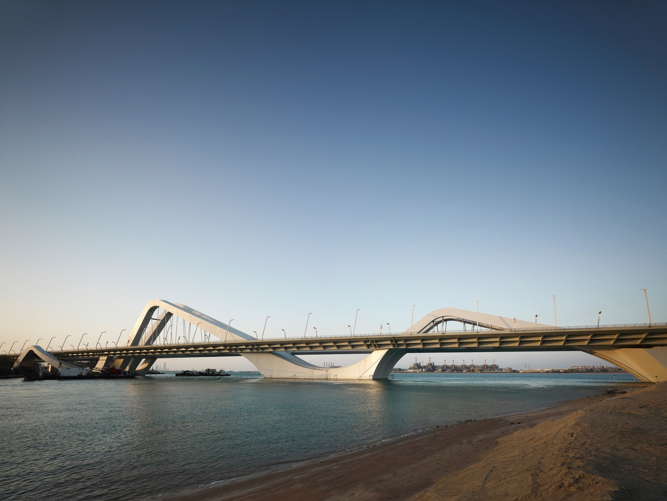 The Sheikh Zayed Bridge in Abu Dhabi.