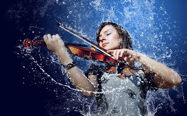 violin_musical_instrument_splash_drops_women_wallpaper