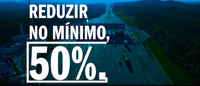 Propaganda divulgada pelo Governo do Paraná informa que o Pedágio vai mudar!