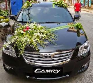 bunga hiasan mobil