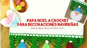 Cómo tejer puntillas navideñas a crochet con caritas de Santa Claus