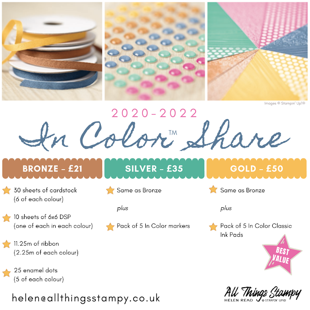 Stampin Up In Color Shares 2020-2022 Helen Read