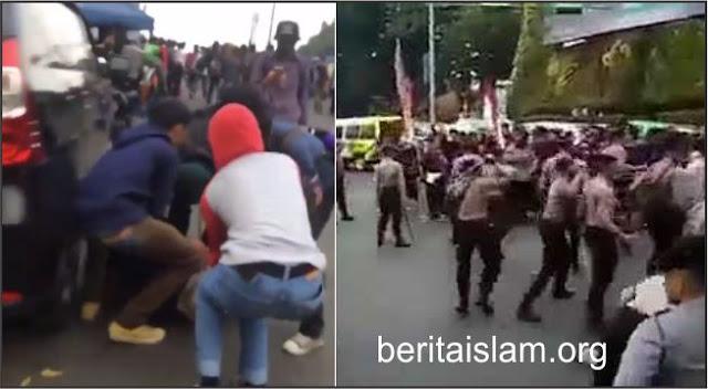 Polisi Hajar Mahasiswa