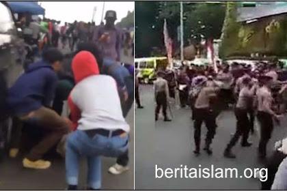 Brutal! Polisi Hajar Mahasiswa Saat Demo Hingga Berdarah-darah dan Terkapar di Aspal