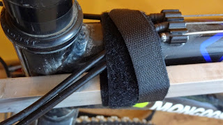 Gopro Pole on Bike - Velcro Strap