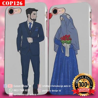 Model casing handphone couple pasangan muslim terbaru COP126