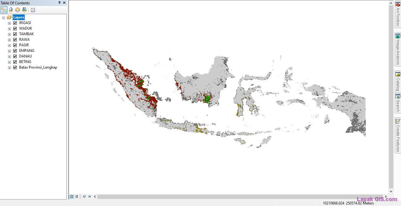 Data Shapefile (SHP) Hidrografi RBI Seluruh Indonesia