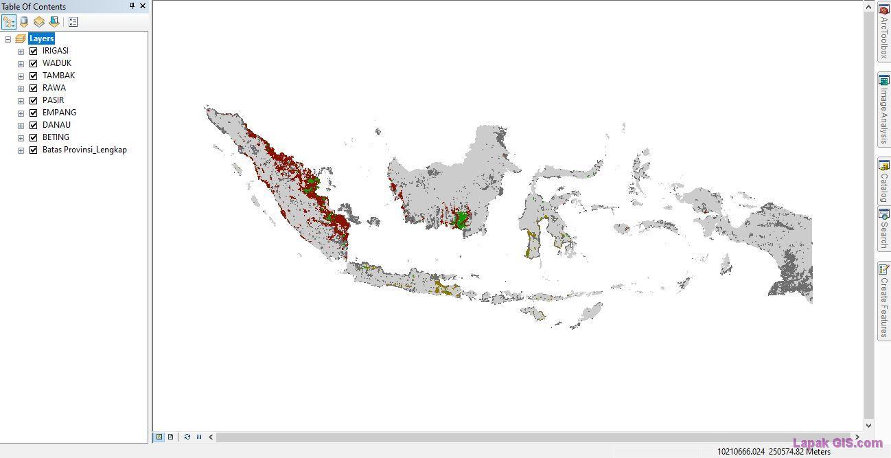 Data Shapefile (SHP) Hidrografi RBI Seluruh Indonesia