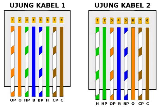 Urutan warna kabel cross