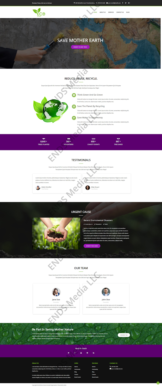 ENDS Media Web Design Portfolio for Goverment, Non-Profit, an Community Website