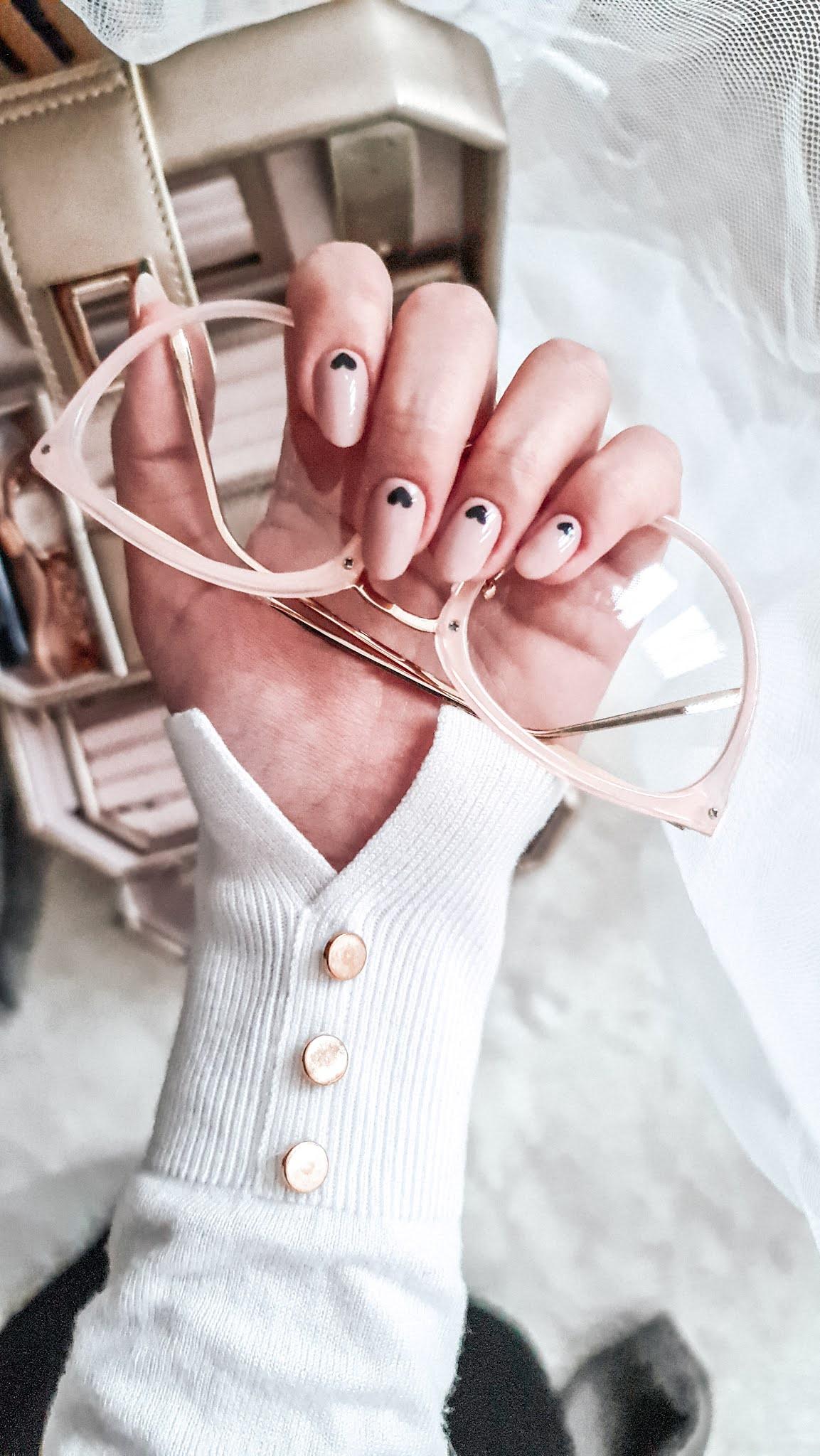 Paznokcie na walentynki . Walentines day nails.