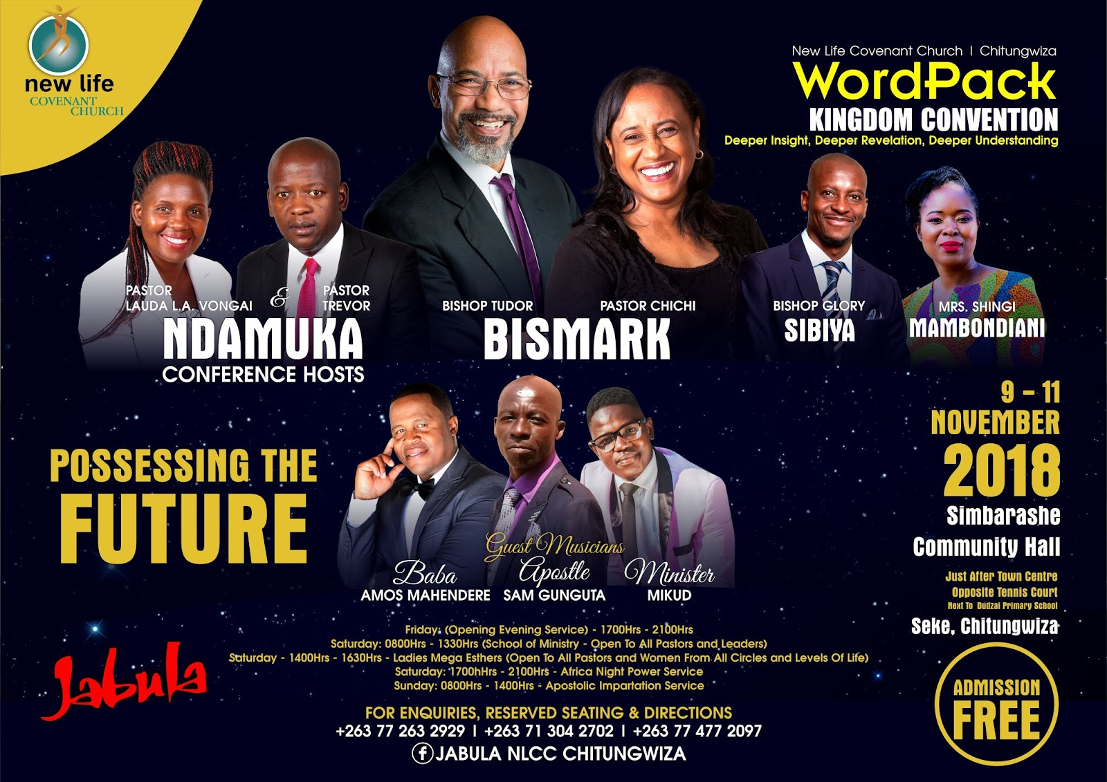 Bishop Tudor Bismark For Chitungwiza WordPack Kingdom Convention 2018