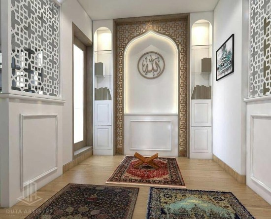 Lingkar Warna 42 Desain Inspiratif Ruang Sholat Sederhana Di Dalam Rumah Minimalis