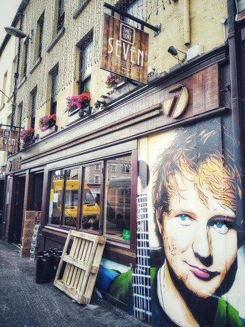 Ed Sheeran's face on a wall