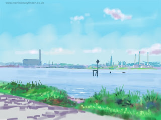 painting from life Fawley hampshire