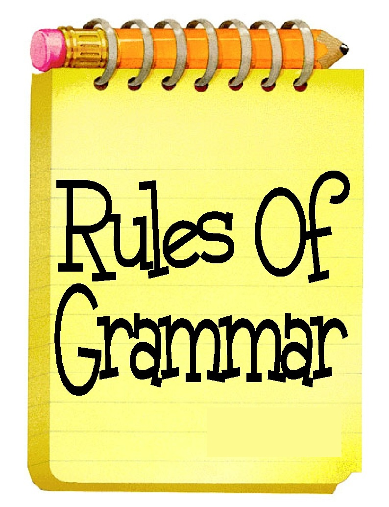 Rules of Grammar