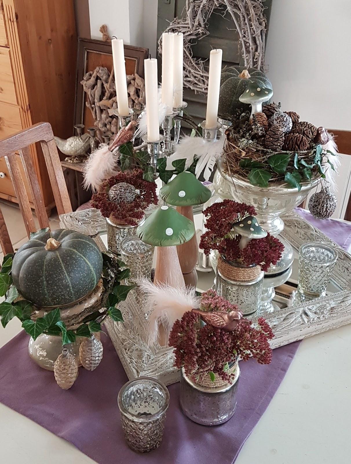 shabby house and garden bauernsilber fette henne und etwas weihnachtlicher glitzer. Black Bedroom Furniture Sets. Home Design Ideas