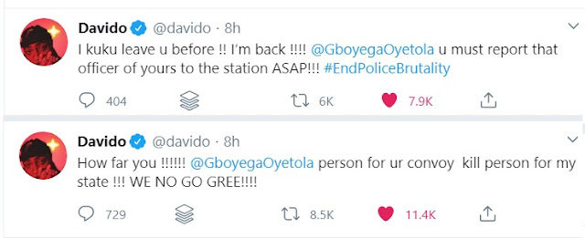Davido Calls Out Governor Of Osun State As His Police Officer Kills Someone