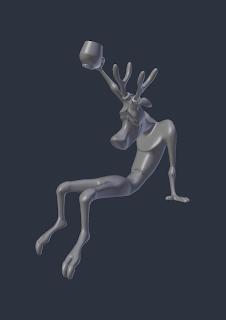 Cheery Reindeer Model [Whole] STL file by Paul Van Gaans