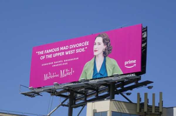 mad divorcée Mrs Maisel Emmy FYC billboard
