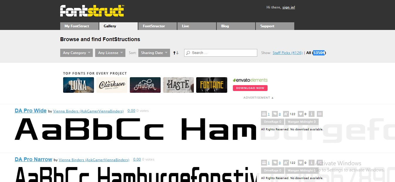 best font websites