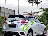 Harga dan Fisik : Spoiler Bumper Belakang Toyota Yaris TRD 2014-2017   P5158-0DA0F-00