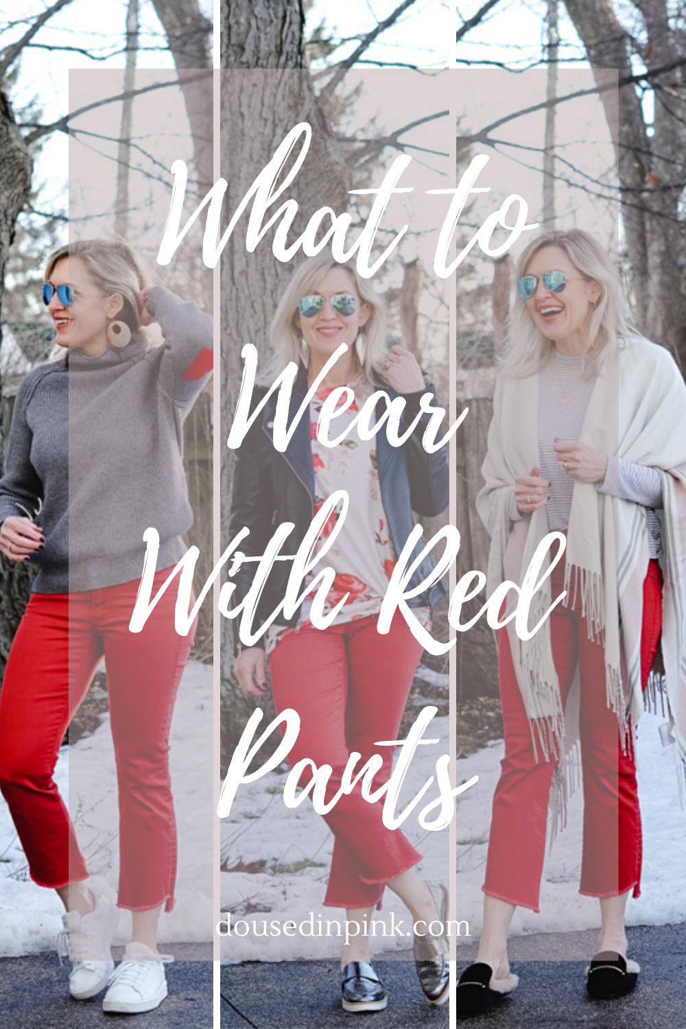 how to wear red pants