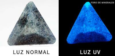 Benitoita bajo la lux ultravioleta - foro de minerales