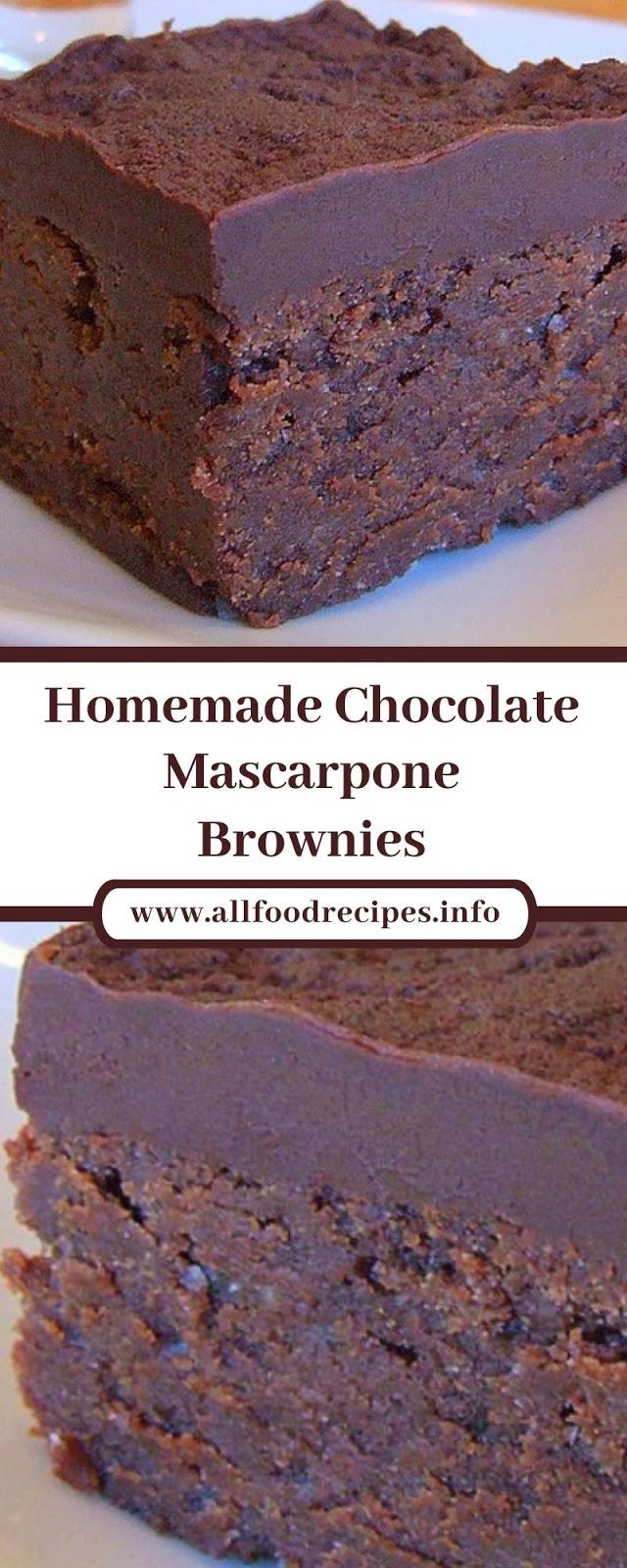 Homemade Chocolate Mascarpone Brownies