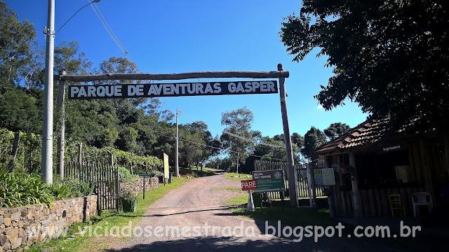 Entrada do Parque de Aventuras Gasper