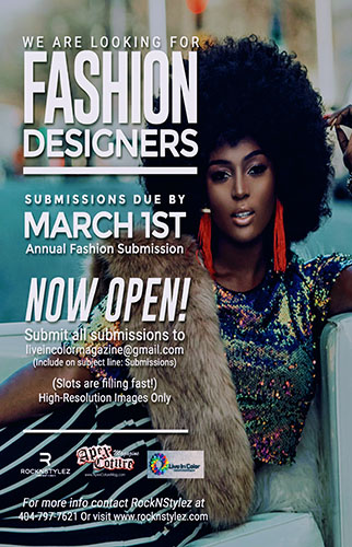 WE ARE LOOKING FOR FASHION DESIGNERS!
