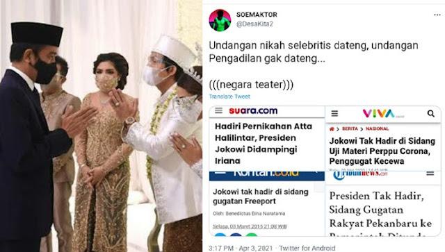 Pedas! Jokowi Disindir Warganet Usai Hadiri Pernikahan Youtuber