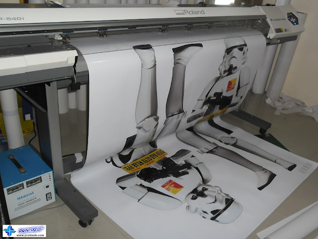 Vinyl Sticker Printing for DHL Philippines' Life-Size Standees