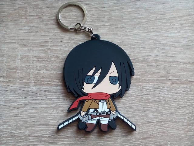Mikasa Ackerman - rozpakowany breloczek na klucze