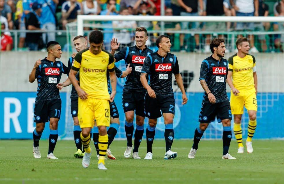 Napoli Borussia Dortmund: Risultato dell'amichevole disputata a San Gallo, in Svizzera.