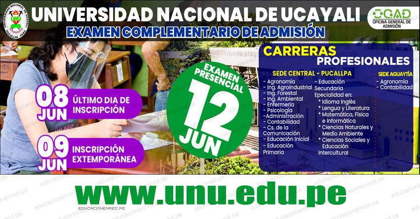 Resultados Examen UNU 2021 (Sábado 12 Junio) Lista de Ingresantes Admisión Complementario - Pucallpa - Aguaytia - Universidad Nacional de Ucayali - www.unu.edu.pe