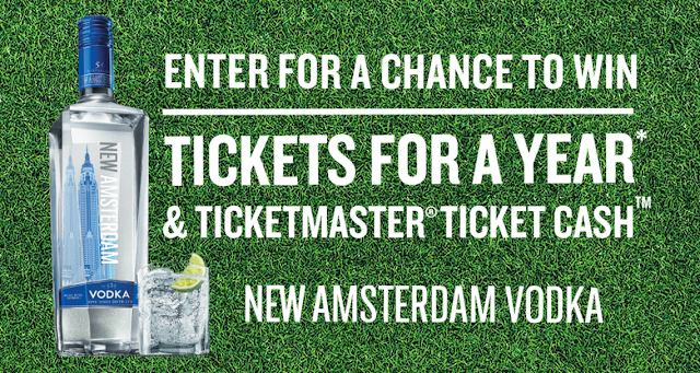 New Amsterdam Vodka is giving music and sports fans the chance of a lifetime! Enter to win free Ticket Master tickets for a whole year!